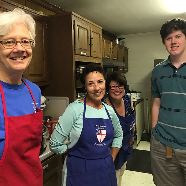 CARITAS volunteers at Grace Episcopal