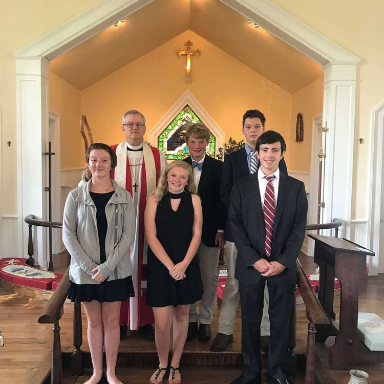 Confirmands with Bishop