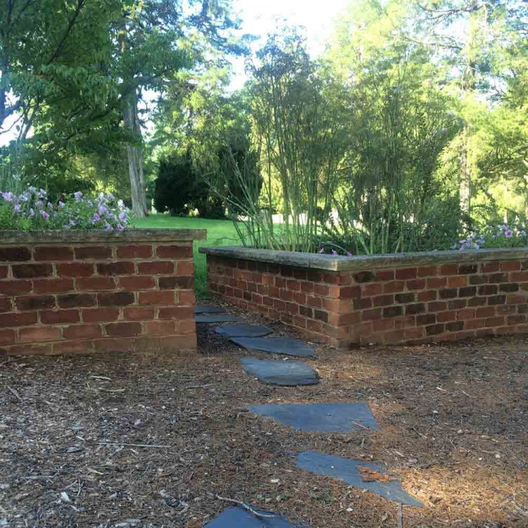 Garden area at Grace Episcopal in Goochland